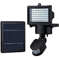 Luce Solare con 60 LED Mpow Luci di Sensore di Movimento Solare, 60 LED Impermeabilizzano le Luci Alimentate Solari di Sicurezza con Sensore di Movimento per Gi3ardino, Patio, Sentiero, Parete, Garage, Cortile e Altre Aree All'aperto