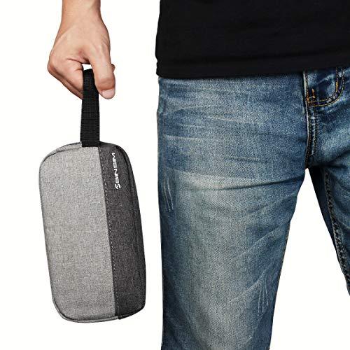 SINSIM Elektronische Accessories Carrying Tasche Case für Ladegerät USB Kabel SD Speicherkarten Kopfhörer Flash Hard Drive Wireless Mouse Power Bank und More, Grau - 6