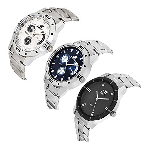 Espoir Combo of 3 Multicolor Dial Mens Watches | Grab Loot ...