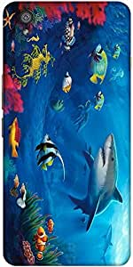 Snoogg Underwater Life 2727 Designer Protective Back Case Cover For One Plus ...