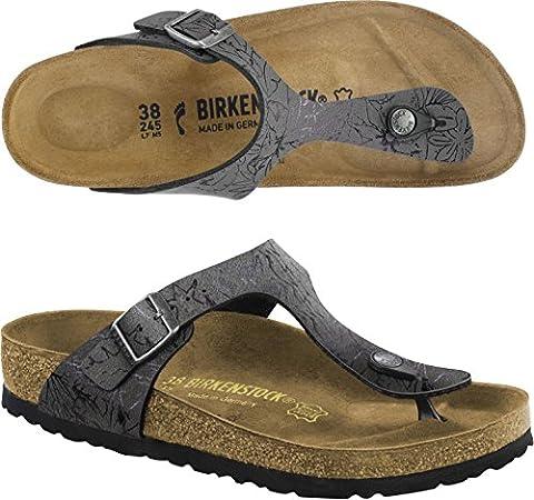 BIRKENSTOCK GIZEH flip flops Schuhe Sandalen (38 EU, AMAZONAS OLIVE/VIOLET)