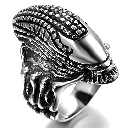 gnzoe-mens-stainless-steel-ring-ring-alien-gothic-retro-silver-black-size-r-1-2