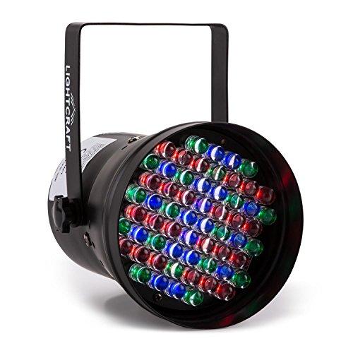 Lightcraft Hepburn • LED-PAR36-Strahler • LED-Lichteffekt • Discolicht-Effekt • DMX-Steuerung • 60 RGB LEDs • Automatikmodus • Stroboskop-Funktion • Dimmfunktion • Master-/Slave-Betrieb • geringe Hitzeentwicklung • hohe Langlebigkeit • schwarz