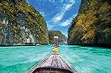 GREAT ART Longtail-Boot Trip ins Paradies Wanddekoration - Wandbild Thailand Motiv XXL Poster (140 x 100 cm)