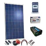 Kit Solar 12v 250W/1250W día regulador MPPT 20a Inversor 1000w onda pura con mando de distancia Batería SP AGM 100Ah 12v