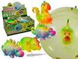 Bada Bing 4er Set Dinosaurier Dino Ballon Ball aufblasbar Luftballon Kinderbeburtstag Mitbringsel Geschenk