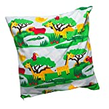 JNY Colourful Kids - Kinderkissenbezug SAFARI (44x44) Kissenhülle Kissenbezüge Bio-Baumwolle