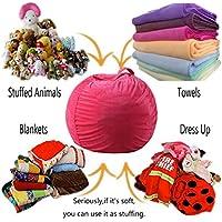 Aufbewahrungs-Sitzsack für Kinder, Plüsch, Spielzeug und Kleidung, Mehrzweck, super weich, zum Aufbewahren von Decken, Kissen, Ersatz für Netz-Spielzeug, Hängematte oder Netz. preisvergleich bei kinderzimmerdekopreise.eu