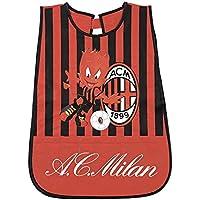 PERLETTI Delantal Infantil AC Milan 1899 - Bata Escolar Impermeable Official Milan con Bolsillo Delantero -