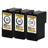 Best Lexmark Negro y negro todo en uno Impresoras - Premium Conjunto de 3 Cartuchos de Tinta Compatible Review