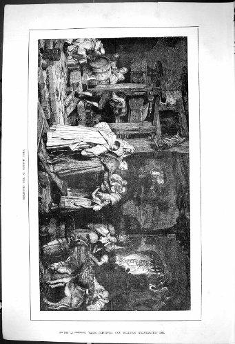 1881 Weinherstellungs-Kloster--Fertigungsindustrie-Trauben-Antike Drucken