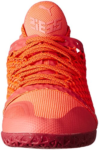 Puma Herren 365 Ignite Netfit CT Fußballschuhe Orange (Fiery Coral- White-Toreador)