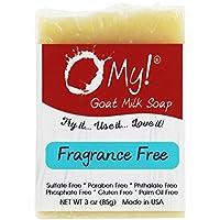 ¡O mi! - Mini O! s cabra leche jabón sin perfume - 3 oz.