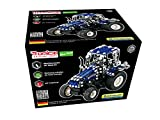 Metal Construction Model Kit Tractor New Holland T5 freewheel 203 durable parts with real tools + picture instructions mechanical building set toy education learning age 12+ male farm adult STEM