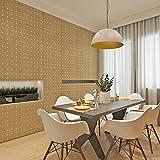 HANMERO® Top Pegatinas muebles papel pintado autoadhesivo imitación madera engomada del PVC pegatinas de pared para Cocina / escritorio /puerta/armario, color amarillo