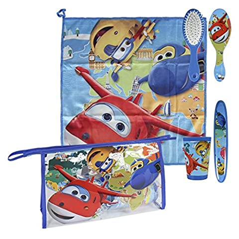 Super Wings 2500000690 Blue Overnight Wash Bag and Travel Accessory