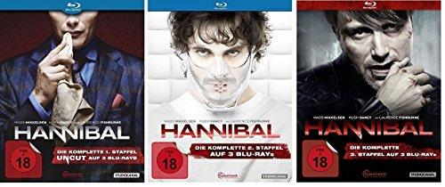 Blu-ray Set * Hannibal - Staffel/Season 1+2+3 * die Serie