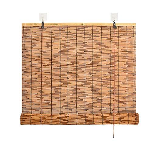 Carbonized Reed Vorhang Vintage Fensterläden Rollläden Büro dekorative Sonnenschutzvorhänge können angehoben und abgeschnitten Werden Gras Vorhänge Bambusvorhänge, Größe kann angepasst Werden