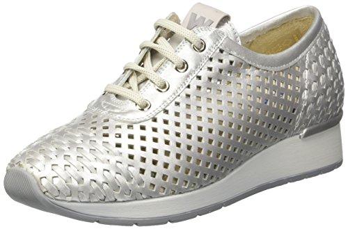 MELLUSO R20004, Sneaker a Collo Basso Donna Argento