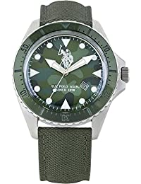 Reloj U.S. Polo Assn. usp4203gr verde piel hombre