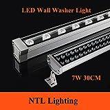 Generic Cold White : New 0. 3M 7W LED Wall Washer Landscape light AC 85V-265V 12V 24V outdoor lights wall linear lamp floodlight 30cm wallwasher