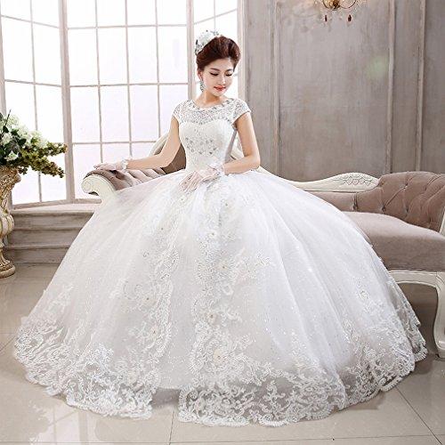 UU Braut Wei?e Spitze Hochzeitskleid Shorts Qi Qi Hochzeit Puppe Kragen Sü?e Prinzessin Hochzeit,EIN,S
