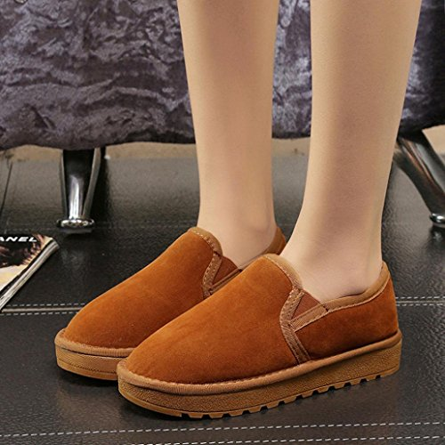 Transer® Unisex Warm Weich Mokassins Casual Schuh Kunstleder+Plastik (Bitte achten Sie auf die Größentabelle. Bitte eine Nummer größer bestellen. Vielen Dank!) Braun