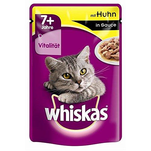 Whiskas Portionsbeutel 7+ mit Huhn in Sauce 24x100g Katzenfutter