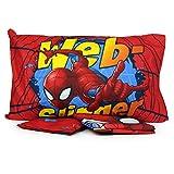 Personnages Parure de lit 1 Place en Coton avec Drap-Housse, taies d'oreiller Spiderman Simple...