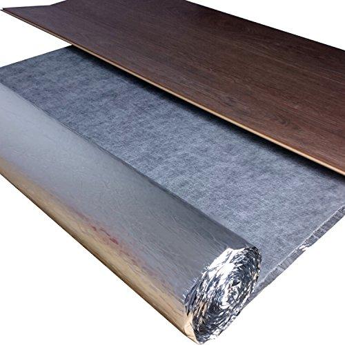 5 m² Trittschalldämmung Fußbodenheizug uficell Silence Floor Akustik ALU - 3 mm Stark - Für Laminat und Parkett mit Alu-Dampfbremse | Rollengröße: 5 m² | Wir machen Ihren Boden Leiser !! - Dichte: ca. 1000 kg/m³ - Hiermit wird Ihr Laminat bis zu 50 % leiser | Hervorragend bei Fußbodenheizung - Wärmedurchlasswiderstand Nur 0,038 m² K/W | Sie kaufen 1 Rolle mit 5 m²