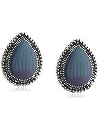 ZEEme Fashion Unisex-Ohrstecker mit blauen Steinen 420020002