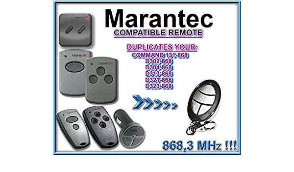 /868//D321/ /868/compatible remplacement T/él/écommande// MARANTEC D313/ 4-canali 868,3/Mhz fixed code clone T/él/écommande.