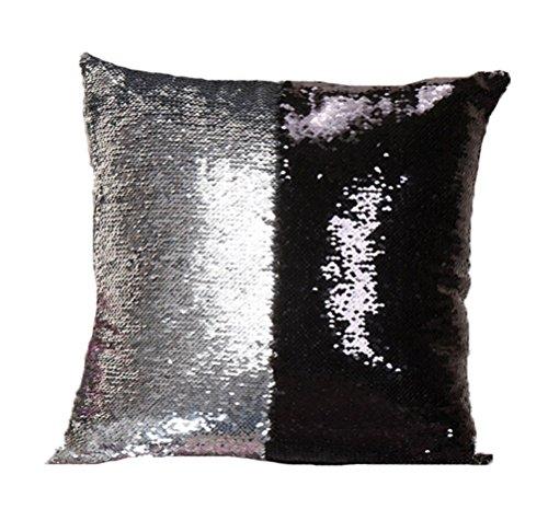 Sinotop-federe per cuscini decorativi per la casa, di lusso, motivo bicolore con lustrini e brillantini, per camera da letto e divano style 7