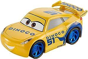 Mattel Disney Cars-Vehículo Turbocarreras Dinoco Cruz Ramirez, Coches de Juguetes niños +3 años, Multicolor FYX42