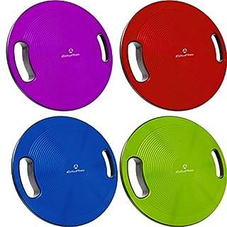 Balance-Board Durchmesser 40cm & Höhe 10cm Kreisel für Physiosport / Physiotherapie. Wackelbrett für Körpergleichgewicht & die Körper-Koordination - Therapiekreisel / Koordinations Boards »Gyro« grün