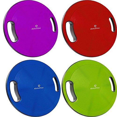 Balance-Board Durchmesser 40cm & Höhe 10cm Kreisel für Physiosport / Physiotherapie. Wackelbrett für Körpergleichgewicht & die Körper-Koordination - Therapiekreisel / Koordinations Boards »Gyro«rot