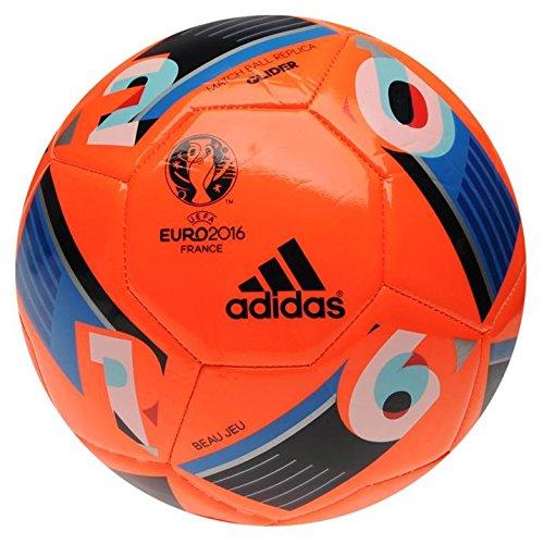 adidas Topgli UEFA Euro 2016Glider Fußball Replica Solar Orange Größe 5, Blau, 5 (Euro Glider Fußball-ball)