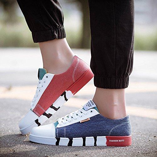 Feifei Hommes Chaussures Printemps Et Automne Mode Loisirs Toile Marée Chaussures 3 Couleurs (couleur: 03, Dimensions: Eu39 / Uk6.5 / Cn40) 01