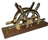 Kartenhalter/Buchstaben/Servietten aus Sheesham Holz und Messing 20x 12x 5cm