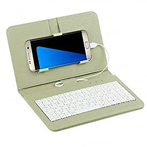 "Tonsee General Wired Keyboard Flip Holster Case For Andriod Mobile Phone 4.2""-6.8"",Grün"