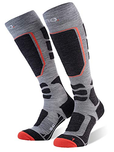 Amazon Marke: Eono Essentials-Ski-Socken (Basic oder Premium), Grau (Premium), EU 43-46, UK 9-11