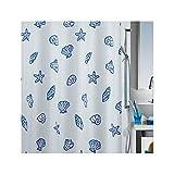 Spirella Concha Marine Textil-Duschvorhang Polyester 240x200 cm weiß/blau