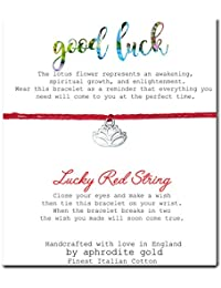 Believe Lucky Red String Friendship Bracelet