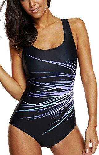 CharmLeaks Damen Einteiler Figuroptimizer Sport Badeanzug Vershiedene Farben 3300 Violett 48 (Herstellergröße XXXL)