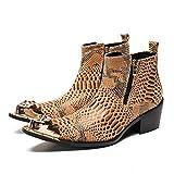 Mr.Zhang's Art Home Men's shoes Gelbe Stiefeletten für Männer erhöhten die Anzahl der Schuhe für den Nachtclub auf der Bühne