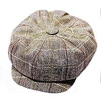 Dersoning Mode Classique Style Angleterre à rayures octogonales chapeau béret casquette Gavroche (kaki)