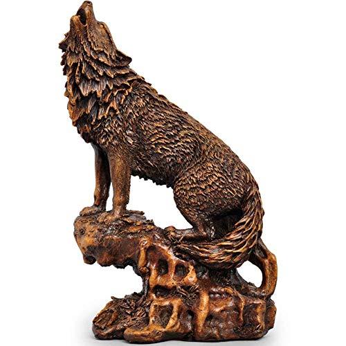 Decoración De La Estatua Lobo Simulación De La Escultura