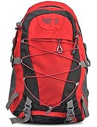 HIKE Women& Men Outdoor Travel Backpack 60-70 Litre Red Hiking Bag