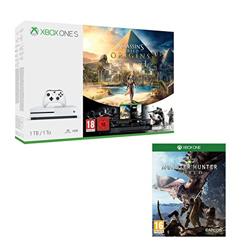 Pack Xbox One S 1 To Assassin's Creed Origins & Rainbow Six : Siege + Monster Hunter World