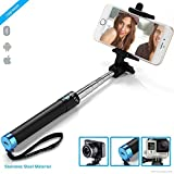 #9: ZAAPNUSTAR2 Bluetooth Super-Extendable Premium Stainless steel Selfie Stick with In-built Remote Shutter For iPhone, Andriod, Gopro & other Smartphones